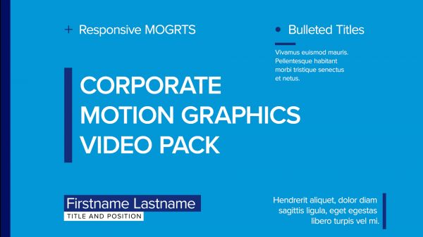Motion Forward – Corporate Video Pack