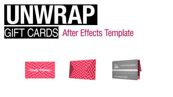 Motion Forward – After Effects Template - Gift Card Animations