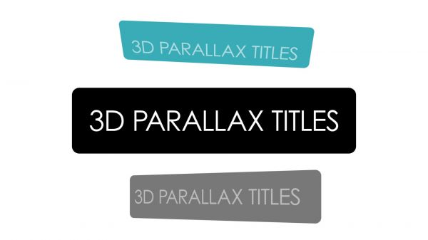 Motion Forward – 3D Parallax Title Overlay with 5 animations