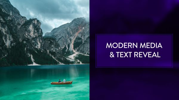 Motion Forward – Modern Media and Text Reveal with Wipe Template