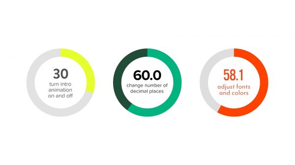 Motion Forward – Circular Percentage Infographic Premiere Template
