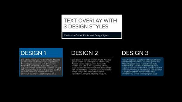 Motion Forward – Modern Text Block with 3 Design Styles Premiere Template