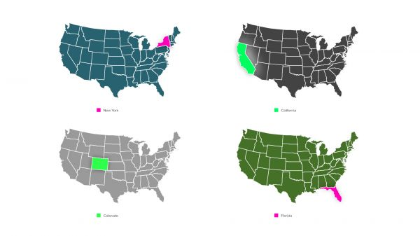 Motion Forward – American States Map with Highlighter for Premiere