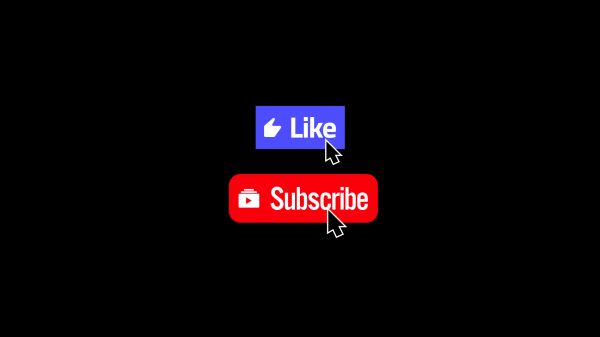 Motion Forward – Like and Subscribe Modern Social Media Buttons