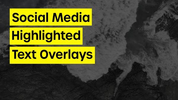 Motion Forward – Social Media Editorial Highlighted Text Overlay